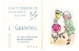 Calendrier De Poche 1963 GRANTHIL (patisserie Montauban) (PPP1280) - Calendriers