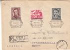 Drapeaux - Soldats - Pologne - Lettre Recommandée De 1954 - Oblitération Bytom - Expédié Vers L' Allemagne -Traunkirchen - 1944-.... République