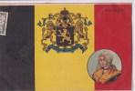 Carte 1900 Précurseur Belle Illustration ,illustrateur: BELGIQUE :drapeau ,armoirie ,blason,(médaillon De Femme) - Other