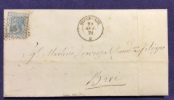1871 BISCEGLIE D.c. + PUNTI SU 20 C. LETTERA COMPLETA DI TESTO PER BARI - Altre Collezioni