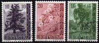 LIECHTENSTEIN - Série Complète Des Arbres Et Arbustes De 1957 Oblitérée TTB - Liechtenstein