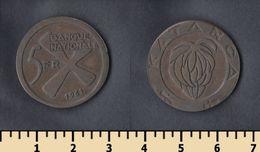 Katanga 5 Francs 1961 - Katanga