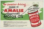 (Automobile) Buvard Huile Amalie. Distributeurs Belgique Et Luxembourg. Abeille. - Automobile