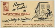 (Assurances) Buvard La Prévoyance Sociale. Bruxelles. - Buvards, Protège-cahiers Illustrés
