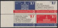 !a! USA Sc# 1543-1546 MNH BLOCK W/ Left Margins - Continental Congress - Etats-Unis