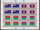 ONU - UNITED NATIONS (NEW YORK) - 1986 - Bandiere 4 Minifogli / FLAGS 4 MINISHEETS MNH - Stamps