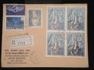 POLYNESIE - Enveloppe En Recommandée De Uturoa - Raiatea Pour La France En 1982 - Aff. Plaisant - à Voir - Lot P9936 - Briefe U. Dokumente