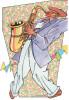 CPSM BD GUY SERVAIS HOMME AU SAXOPHONE 1984 LOUVAIN LA NEUVE BELGIQUE ED DU MANOIR - Comicfiguren