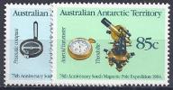 ANTÁRTIDA AUSTRALIANA 1984 - Yvert #61/2 - MNH ** - Territorio Antártico Australiano (AAT)