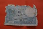 1941 BILLET DE BANQUE BANK-BILL FRANCE BILLET DE 10 FRANCS MINERVE - 1871-1952 Anciens Francs Circulés Au XXème