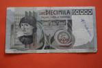 1976 ITALIE BILLET DE BANQUE BANK-BILLBANCA D´ITALIA  BANCONOTA 10 000 DECIMILA LIRA VENDUTA IN LO STATO - 1946-… : Republic