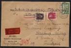 BERLIN - POSTSCHCKAMT / 1928 WERTBRIEF VON 1025,60 RM NACH FRANKREICH (ref 6905) - Storia Postale