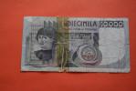 1976 ITALIE BILLET DE BANQUE BANK-BILLBANCA D´ITALIA  BANCONOTA 10 000 DECIMILA  LIRAVENDUTA IN LO STATO - 1946-… : Republic