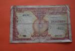 INSTITUT D´EMISSION CAMBODGE LAOS VIETNAM INDOCHINE FRANCAISE 10 PIASTRES BILLET DE BANQUE BANK-BILLBANCA BAIE D´ALONG - Indochina