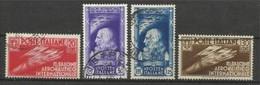 1935 Italia Italy Regno SALONE AERONAUTICO Serie Di 4v. 384/87 Usata USED - Oblitérés