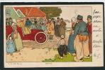 """Jolie Carte Fantaisie Voiture Traversant Un Village Hollandais """" Tuf Tuf """" - A.A.'s-H. N°3 - Other Illustrators"""
