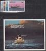 Dominica MiNr. 856/59 + Bl. 89 ** Schiffe - Dominica (1978-...)