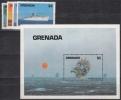 Grenada MiNr. 1307/10 + Bl. 128 ** Schiffe - Grenade (1974-...)