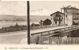64. CPA. Pyrénées-Atlantiques. Hendaye. Le Nouveau Pont Et Fontarabie - Hendaye