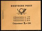 DDR 1961, Michel # MH 3b 2 ** Mit Plattenfehler Auf Feld 4 (Fleck Auf Der Stirn Des Rechten Arbeiters) - Markenheftchen