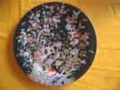 133 - Plat Décoratif Chinois - Décor Pivoines - Cerisiers - Papillons - Asian Art