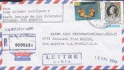 Ecuador Registered Certificado SANTO DOMINGO De Los COLORADOS 1994 Cover Letra LOS ANGELES United States - Ecuador