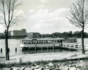 Allemagne Hambourg Hotel Restaurant Flottant Ferry Boat Ancienne Photo 1948 - Boats