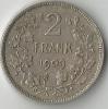 BELGIQUE 2 FRANK  1909   ARGENT - 1865-1909: Leopold II