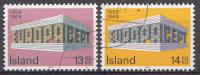Islande 1969  Mi.nr: 428-429  Europe  Oblitérés / Used / Gest. - 1944-... Republik