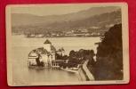 HAA-38  Photo Mermillod Montreux Château De Chillon Sur Le Lac Léman. Ligne Chemin De Fer. Mention Au Dos : 4 Oct. 1885 - Photos