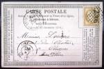 GC 2306 Sur 55 + CACHET Type 18  --  MELUN  --  SEINE ET MARNE  --  LAC  --  1876 - 1849-1876: Période Classique