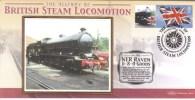 British Steam Locomotion  -  NER Raven 0-8-0 Goods  -  Benham Silk FDC  -  1er Jour Enveloppe - Treni