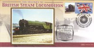British Steam Locomotion  -  LNER Gresley 4-6-2 'Flying Scotsman'  -  Benham Silk FDC  -  1er Jour Enveloppe - Trenes