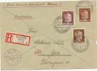 DR Besetzung Ukraine Reco Brief Proskurow 25.2.44 Mif. Mi.2,9,12 N. Gera (12) - Occupation 1938-45