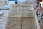 La Republique Duvar Du 8 Septembre 1914 Le Siege Du Gouvernement Transféré A Bordeaux - Periódicos