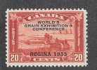 CANADA, 1933, #203, GRAIN EXHIBITION HARVESTING WHEATH OVERPRINT - Unused Stamps