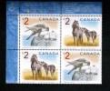 CANADA, 1998, #1692a, FALCON & HORSES  UL - Blocs-feuillets