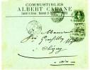 SUISSE ENV 1899 GENEVE  N°65 ET 67 TARIF RL RAYON LIMITROPHE A 15C 1ER ECHELON => CHEZERY AIN  FRANCE - Briefe U. Dokumente