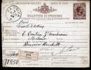 A3372) Italien Italy Paketkarte Von Padova 9.8.1888 Nach Milano - 1878-00 Humbert I.