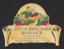 Etiquette De Vin  De Savoie  75cl - Cuvée Spéciale Mollex  -  Thème Couple  -  Maison Mollex à Corbonod (01)  -Années 60 - Coppie