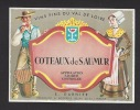 Etiquette De Vin Coteaux De Saumur  - Thème Couple  -  E. Garnier  à  Montreuil Bellay (49)  -  Années 60 - Couples