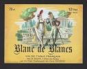 Etiquette De Vin De Table Blanc De Blancs -  Thème Couple  -  Delcroix à Flines Les Râches  (59) - Couples