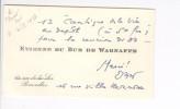 carte de visite autographe Etienne du Bus de Warnaffe 1983