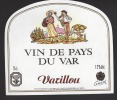 Etiquette De Vin De Pays Du Var   -  Varillou  - Thème Couple - Coppie