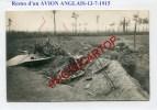 AVION Anglais Abattu-TRANCHEE-Avec CP De WATERDAMHOEK-13-7-15-CARTE PHOTO Allemande-Guerre 14-18-1WK-BELGIEN-FLANDERN- - Langemark-Poelkapelle