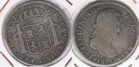 BOLIVIA ESPAÑA FERNANDO VII 4 REALES 1818 POTOSI PLATA SILVER W - Bolivia