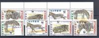 ETHIOPIA Ethiopie 2001 WWF Ethiopien Zebra Zebre Faune Animaux Strip + Set MNH - W.W.F.