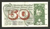 [CC] SVIZZERA / SUISSE / SWITZERLAND - NATIONAL BANK - 50 FRANCS / FRANKEN (1969) APFELERNTE - Svizzera