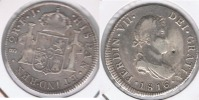 CHILE ESPAÑA FERNANDO VII  2 REALES 1816 SANTIAGO PLATA SILVER W.png RARA - Chile