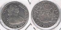 COLOMBIA ESPAÑA FERNANDO VII 2 REALES 1819 NUEVO REINO PLATA SILVER W - Colombia